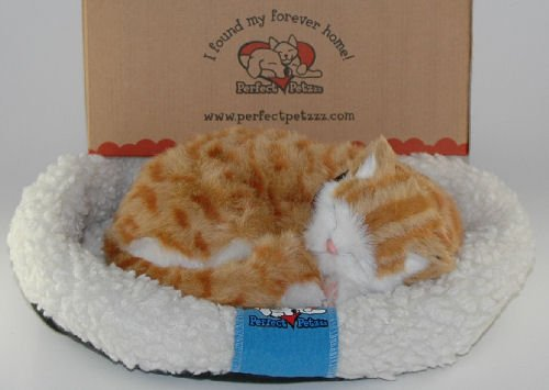 Perfect Petzzz Huggable Breathing Kitty Cat Pet Orange Tabby by Perfect Petzzz (Image #2)