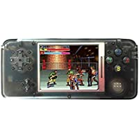 Handheld Retro Game Console 64 Bit 3 inch HD Screen 800 Classic Game Player- Transparent Black