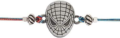 Spiderman 1 Designer Rakhi Bracelet for Kids Brother on Rakshabandhan Traditional Metal Rakhis with Plastic Free Packaging