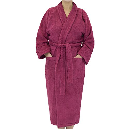 Classic Terry Cloth Bath Robe - Unisex Spa/Hotel Quality Robes for Men Or Women - 100% Long Staple Cotton