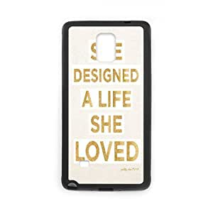 Yearinspace Downton Abbey Quotes She Designed A Life She Loved Case For Samsung Galaxy Note 4 Girly Protective, Samsung Galaxy Note 4 Cases For Women For Men With Black
