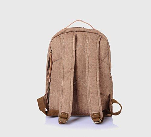 Sucastle Lässige Tasche Leinwand Tasche Umhängetasche Reisetasche Rucksack Sucastle Farbe: Khaki Größe: 45x31x10cm