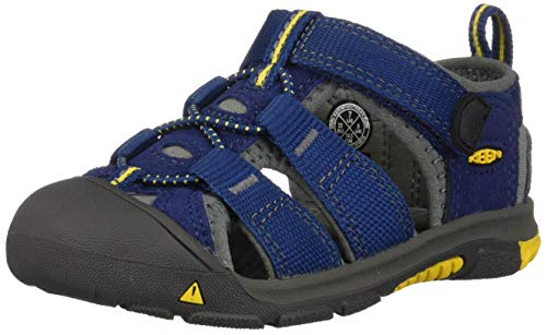 Keen Unisex Kid's Newport H2 Sandal, blue depths/gargoyle, 7 M US Toddler