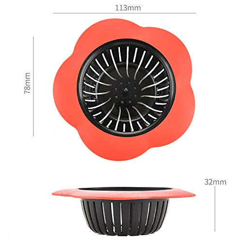 Sinwo Drain Hair Stopper Cover Filter Sink Strainer Silicone Bathroom Kitchen Shower Use (Blue) by Sinwo (Image #3)
