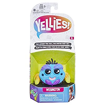 Yellies! Webington; Voice-Activated Spider Pet; Ages 5 and up: Toys & Games