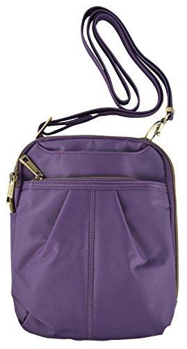 - Travelon Anti-Theft Signature Slim Day Bag (One Size, Violet)