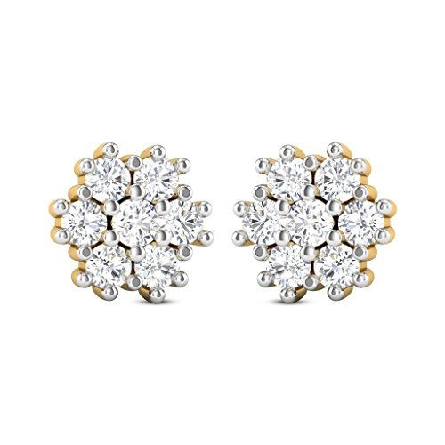 jewelsforum-studs-diamond-nakshatra-earrings-in-14kt-yellow-gold-042-carat-tcw-14-round-cut-diamonds