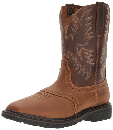 Ariat Men's Sierra Wide Square Toe Work Boot, Aged Bark, 11.5 2E US