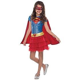 - 41JGGOF6WjL - Girl's Dc Comics Supergirl Outfit Child Tutu Dress Halloween Costume