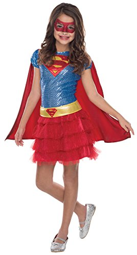 UHC Girl's Dc Comics Supergirl Outfit Child Tutu Dress Halloween Costume