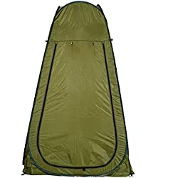 Pop-Up Shower Tent Waterproof Portable Toilet Changing Room Camping Beach Dresses Tent with Carry Bag GREEN (US STOCK)