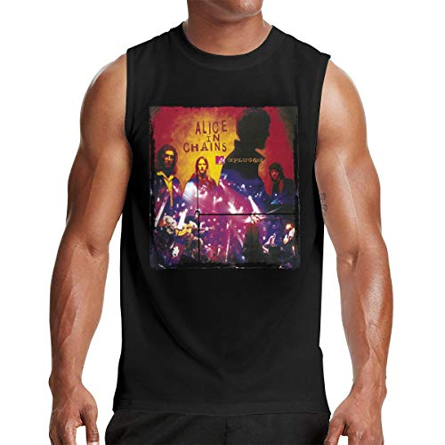 Alice in Chains Wallpapers Men's Fashion Mandatory Sleeveless Muscle Tee Tank Vest M Black