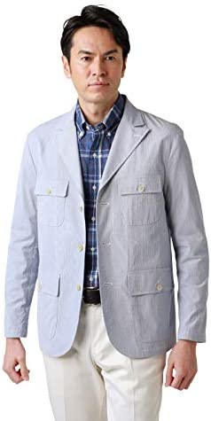 ジャケット 通気性 吸水性 COOL COMFORT コードレーン ピークド カバーオール