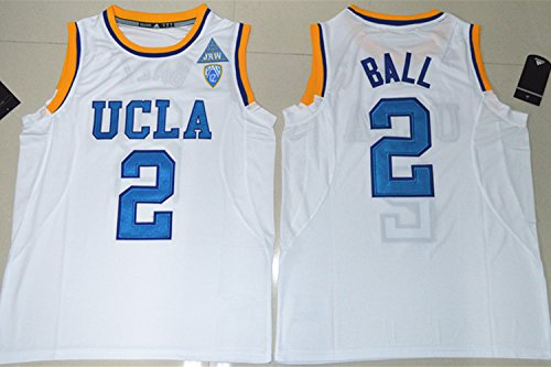 2017 UCLA Bruins Lonzo Ball 2 College Basketball Mens Jersey White S