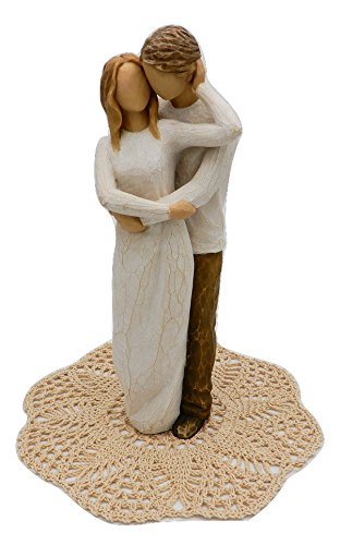 Willow Tree Wedding Themed Figurine with Westbraid Doily (Together) (Figurine Together Willow Tree)