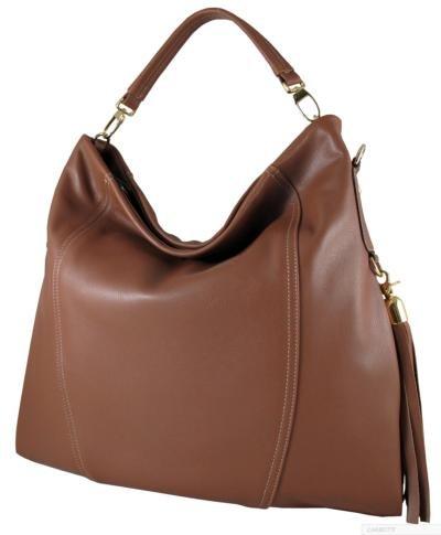 7ab8ad59d26 Carbotti Designer Large Leather hobo bag (Tan)  Amazon.co.uk  Shoes ...