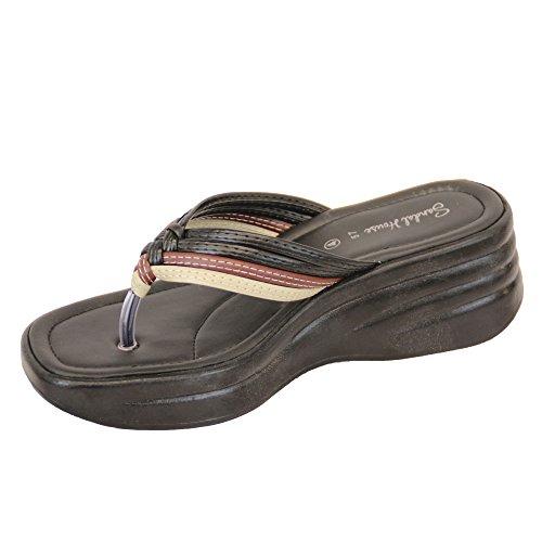Damen Sandalen Damen Glitzersteine Hineinschlüpfen Zehensteg Tanga Pantoffeln Bequem Neu Mehrfarben - SH574