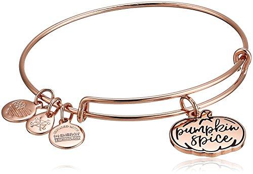 (Alex and Ani Women's Color Infusion Pumpkin Spice EWB SR Bracelet, Shiny Rose Gold, Expandable)