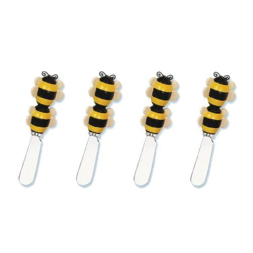 Bee Cheese Spreader Set of 4 (Bulk) by Supreme Housewares