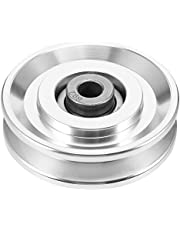 VICASKY Bearing Pulley Wheel Aluminium Alloy Groove Guide Pulley Rail Ball Universal Bearing Wheel for Pulley Cable Machine Fitness Gym Equipment
