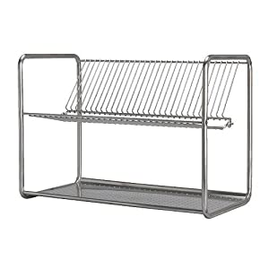 Ikea ordning dish drainer stainless steel 50x27x36 cm for Scolapiatti leroy merlin