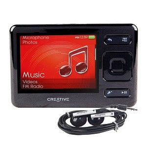 refurbished creative zen mp3 player 4gb black home audio theater. Black Bedroom Furniture Sets. Home Design Ideas