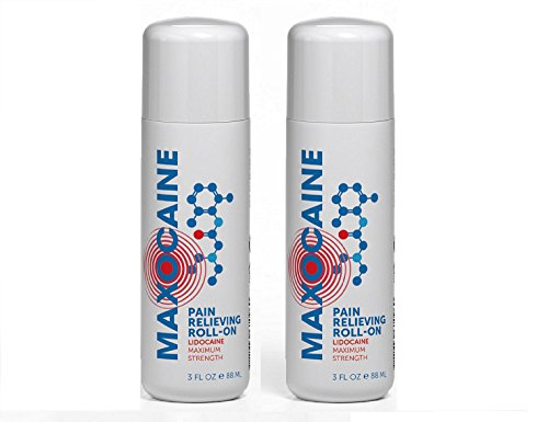 Maxocaine | Maximum Strength Lidocaine Instant Pain Relief Roll-On, Tattoo Numbing Topical Anesthetic Cream. Vanishing Scent/FDA Registered/Non Addictive/No Animal Testing/Made in USA.