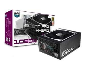 Cooler Master Silent Pro Hybrid 1050W 1050W ATX Negro unidad de - Fuente de alimentación (1050 W, 90 - 264, 50 - 60, +12V,+3.3V,+5V,+5Vsb,12V, Activo, 150 W)