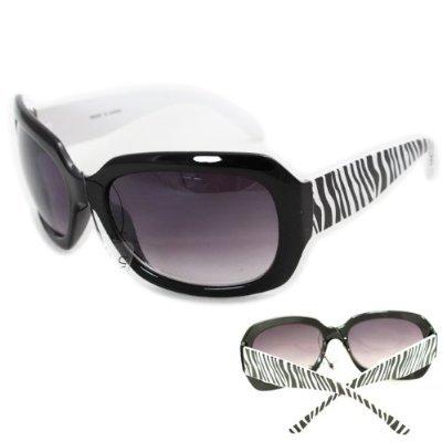 SWG EYEWEAR® Retro Fashion Sunglasses UV400 Zebra Pattern with Microfiber - Sunglasses Zebra