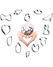 Beyond 280 Daily Use & Christmas Cookie Biscuit Cutters Set, Cute Small Stainless Steel Shapes for Baking and Party
