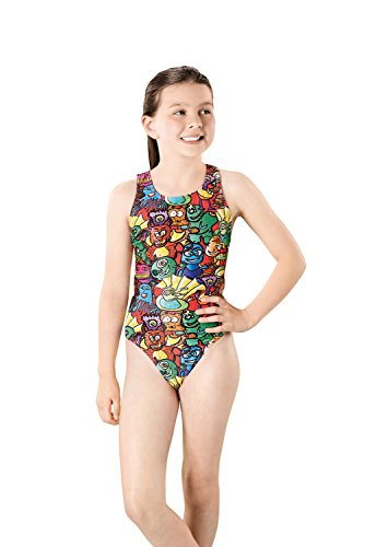 Maru Swimming Costume (Maru Girls Dizzee Sparkle Auto Back Swimming Costume (Size 28
