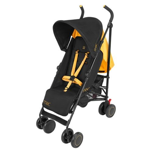 Maclaren Volo Baby Stroller (MAC by Maclaren M-01 Stroller, Black/Marigold)