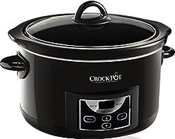 Crock-Pot - Olla de cocción lenta digital de 4.7 L, color negro