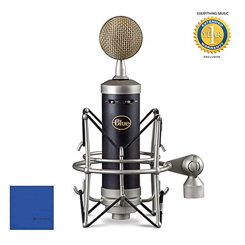 Blue Microphones Baby Bottle SL Large-Diaphragm Condenser Microphone with Microphones Baby Bottle SL Large-Diaphragm Condenser Microphone with Microfiber and 1 Year Everything Music Extended - Tube Microphone Mxl Genesis