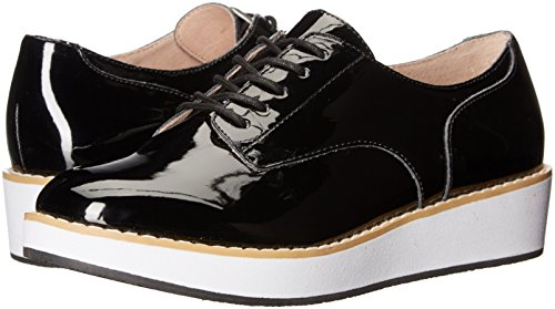 Steve Madden Women's Raant Oxford, Black Patent, 6 M US