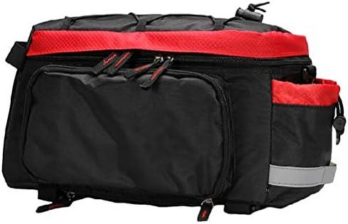 フレーム用自転車バッグ自転車バッグキャリア防水調節可能な弾性自転車バッグ反射ストリップ安全大容量自転車バッグ