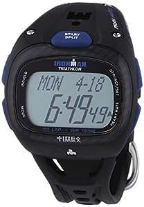 Timex T5K489 - Reloj (cuarzo, digital) con cronómetro, alarma, correa de caucho color negro