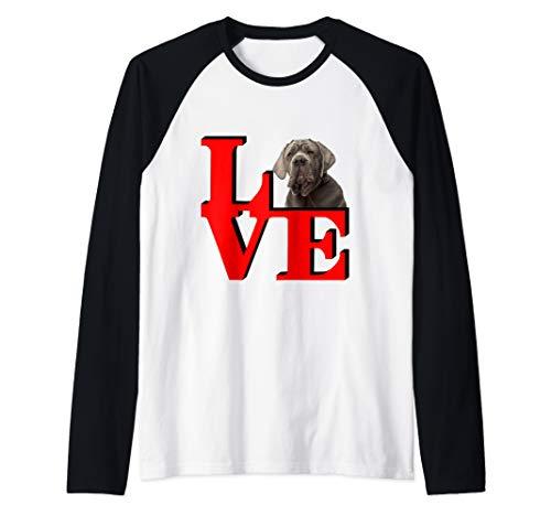 My Neopolitan Mastiff Love Park  Raglan Baseball Tee