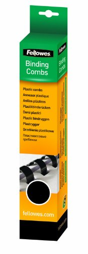 "Plastic Binding Combs, Round Back, 3/8"", 55 Sheet Capacity, Black, 25 Pack (52322) Photo #3"