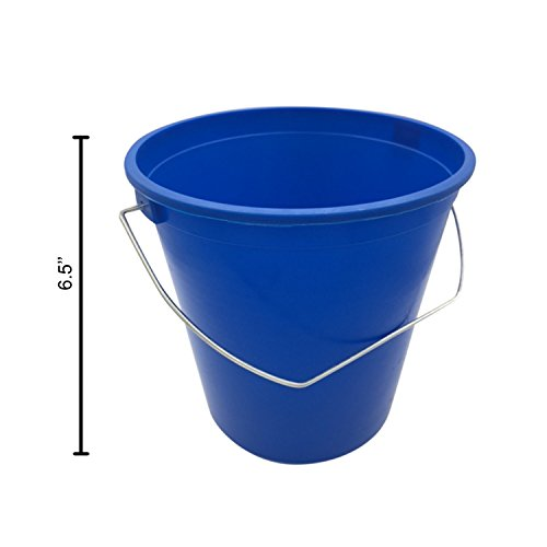 argee heavy duty plastic bucket with handle 2 1 2 quart cleaning