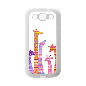 Colorful Aztec Tribal Giraffe Protective Gel Rubber Back Fits Cover Case for SamSung Galaxy S3