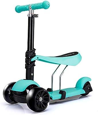 Patinetes de tres ruedas Kick Scooter con Asiento, Modo ...