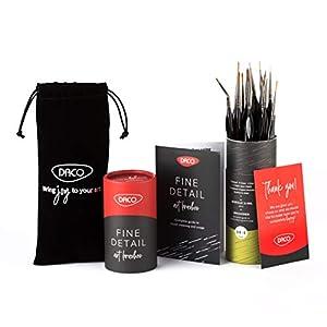 DACO Miniature Paint Brushes, 15 Detail Paint Brushes for Acrylic Paint, Watercolor Paint, Oil Paint, Gouache Paint…