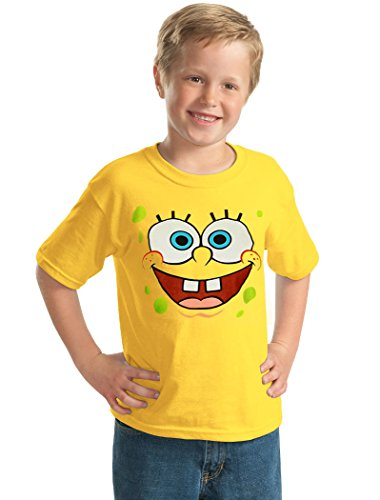 Animation Shops Spongebob Face Youth Kids T-Shirt-Youth Large [14/16] Yellow]()