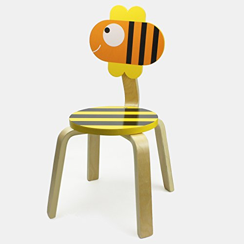 Wood School Stack Chair, Cute Animal Seat for Classroom, Nursery, Kindergarten Learning, Painting, Reading, Handwriting, 2, 3, 4, 5 Year Old UP Kids, Toddlers, Children Boys, Girls - iPlay, iLearn (Gift Stack)