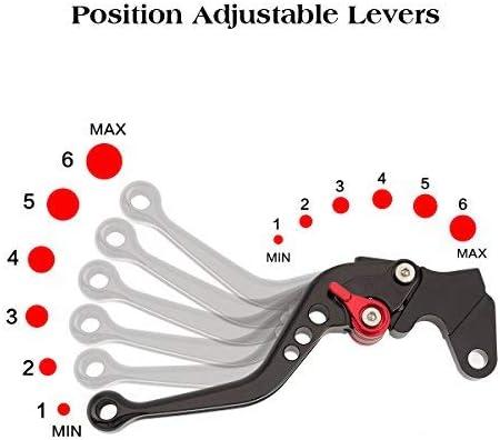 Moto Levier Kit Levier Dembrayage et Levier de Frein CNC Reglable en Aluminium pour Moto Sport Vespa VNA VNB VNC VNL VBA VBB V5A V5B V9A V9B,VNX P125X,VSB GS160,VSE Rally 200,VMA Primavera