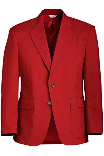 Ed Garments Men's Classic Two Button Single Breasted Blazer, RED, (Mens Two Button Single)