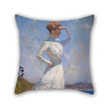 Throw Cushion Covers Of Oil Painting Benson, Frank Weston - Sunlight 20 X 20 Inches / 50 By 50 Cm Best Fit For Outdoor Car Seat Him Husband Dining Room Floor Each Side