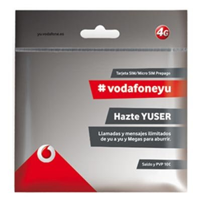 Vodafone - Tarjeta prepago smartphone 10 euros yu: Amazon.es ...