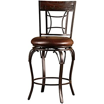 Amazon Com Hillsdale Granada Swivel Counter Stool Brown